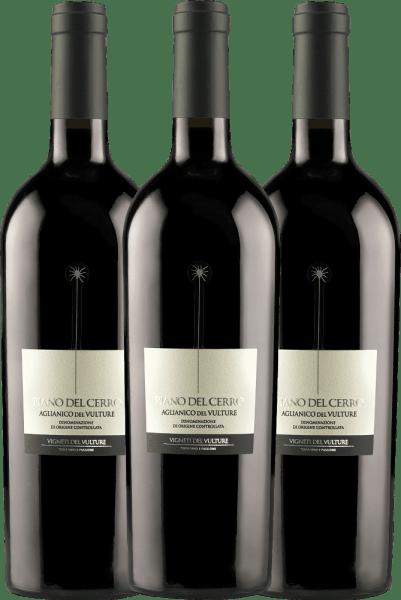 3er Vorteils-Weinpaket - Piano del Cerro Aglianico del Vulture DOC 2018 - Vigneti del Vulture