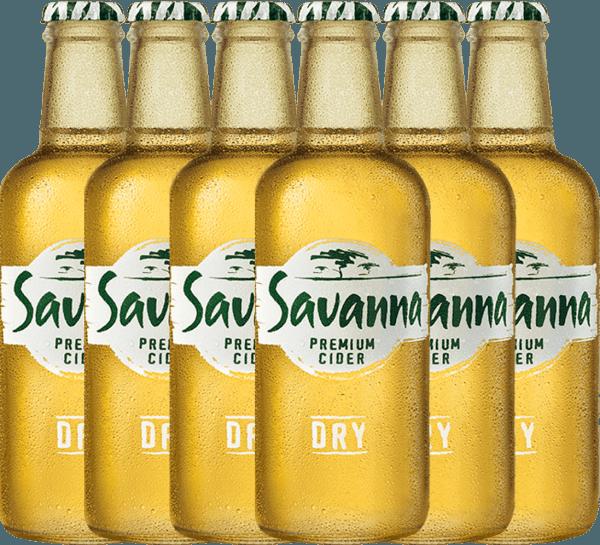 6er Vorteilspaket - Savanna Premium Dry Cider - Savanna