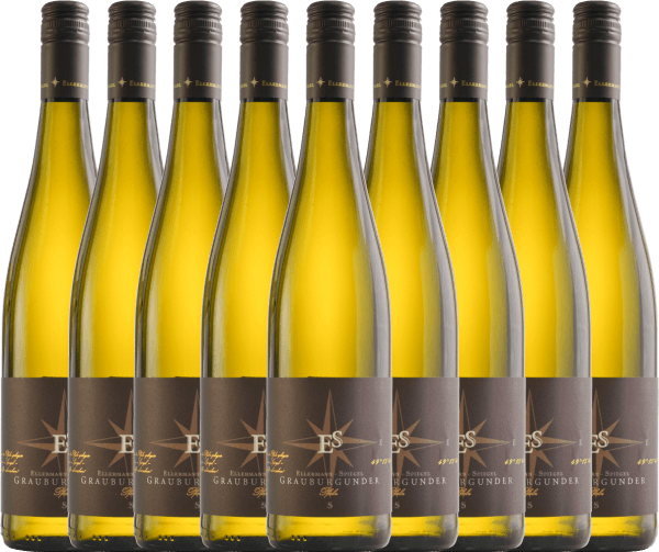 9er Vorteils-Weinpaket - Grauburgunder trocken 2020 - Ellermann-Spiegel