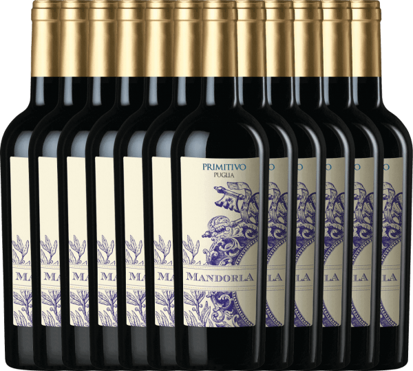 12er Vorteils-Weinpaket - Primitivo Puglia IGT 2019 - Mandorla