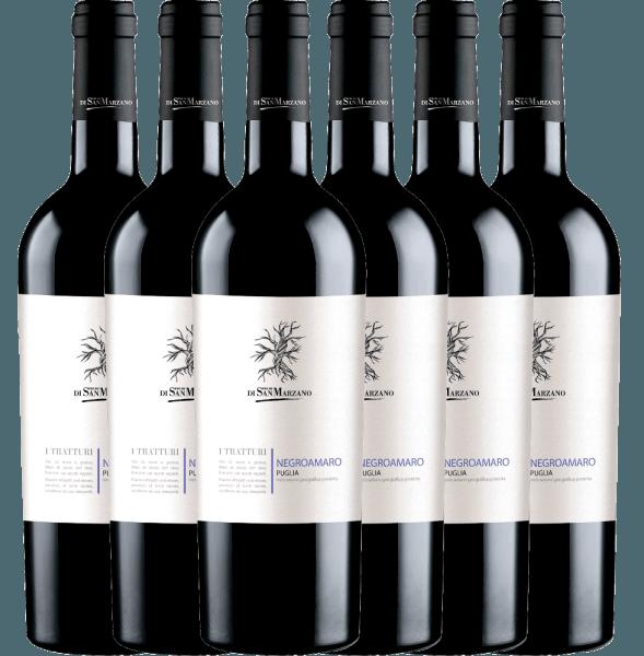 6er Vorteils-Weinpaket - I Tratturi Negroamaro 2019 - Cantine San Marzano