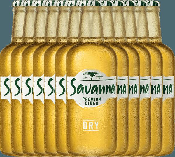 12er Vorteilspaket - Savanna Premium Dry Cider - Savanna