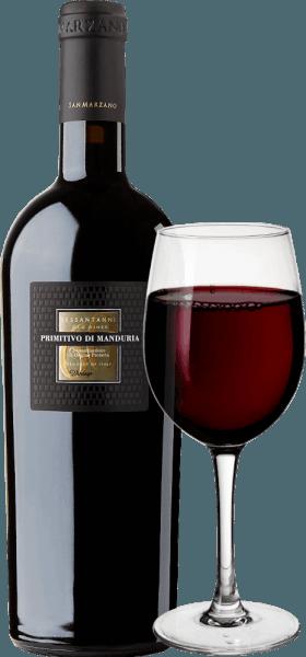 """El Sessantanni Primitivo di Manduria de Cantine San Marzanoes uno de los grandes vinos tintos de Apulia. El Sessantanni Primitivo, el vino tinto italiano, se vinifica a partir de las uvas de cepas de más de 60 años de antigüedad e inspira con una fruta opulenta y matices maravillosamente especiados de canela, cedro y vainilla. El Sessantanni Primitivo di Manduria de Cantine San Marzano es un vino tinto italiano inolvidablemente intenso que deleita con su cuerpo. De color rojo intenso en la copa, este vino tinto impresiona con un bouquet de múltiples capas lleno de ciruelas secas, compota de cerezas, ligero tabaco, algo de anís y bayas silvestres maduras. Vinificación del Sessantanni Las uvas recogidas a mano para este noble vino tinto proceden de cepas de 60 años arraigadas en suelos pobres y ricos en óxido de hierro. Esto también explica el nombre, porque Sessantanni significa """"de sesenta años"""". El resultado es, entre otras cosas, un rendimiento mucho menor, ya que estas vides viejas y nudosas sólo producen unos 3.000 kg de uva por hectárea y año. Este rendimiento naturalmente reducido también permite una calidad particularmente alta de las uvas individuales. El Scirocco, que sopla desde el norte de África, modela claramente el clima de los viñedos de Cantine San Marzano en el sur de Italia. Aporta aire seco, lo que dificulta el ataque de hongos, insectos y podredumbre a las vides, lo que casi hace posible el cultivo según las normas ecológicas. El 80% del mosto se deja en las pieles durante 18 días bajo control de temperatura. El 20% restante durante 25 días. Esto conduce a una extracción óptima. Las levaduras son autóctonas de la bodega. Una vez extraído el Sessantanni, se envejece durante 12 meses enbarricas de roble francés y americano. Notas de cata/degustación del Sessantanni ElSessantanni Primitivo di Manduria de Cantine San Marzanoes un monovarietal de Primitivo de color rojo rubí intenso en la copa. En nariz se aprecian aromas de ciruelas pasas y mermelada"""