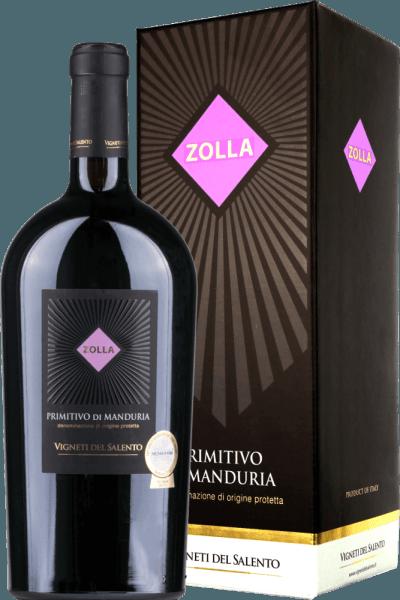 Zolla Primitivo di Manduria DOP 1,5 l Magnum 2017 - Vigneti del Salento