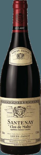 Este monovarietal de Pinot Noir se presenta en un rojo rubí oscuro y brillante en la copa. El Santenay AOC Clos de Malte de Louis Jadot seduce con un bouquet complejo y elegante de almendras, frutos rojos maduros como las fresas, pero también notas ligeramente terrosas. Además, se unen el tabaco, las especias orientales y la madera. El paladar, bien estructurado, denso y profundo, está delicadamente envuelto por una fina especia terrosa y una sabrosa fruta jugosa (cereza). Mantiene unos taninos suavemente maduros pero potentes. En definitiva, un vino tinto muy elegante y con un excelente potencial, que armoniza de forma excelente con platos de carne fuertes como la paleta de cordero estofada con hierbas, la pierna de venado o la silla de montar de liebre con una compota afrutada de cerezas o bayas.