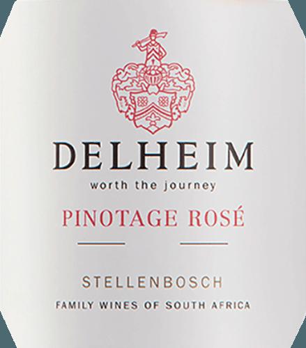 """El Pinotage Rosé de Delheim Wines se muestra en un vivo color rosa brillante. El aroma único, denso y fragante de este vino rosado de Sudáfrica recuerda a una cesta de frutas llena de frambuesas rojas dulces, arándanos, fresas silvestres y cerezas dulces y jugosas. En boca, este Pinotage Rosé es fresco, afrutado, jugoso y redondo. La crujiente acidez de la fruta se ve contrarrestada por un sutil y maravilloso dulzor fundido, que equilibra perfectamente este rosado del Cabo. Vinificación del Pinotage Rosé de Delheim Este clásico se vinifica desde 1976. En aquel entonces, Michael """"Spatz"""" Sperling y su esposa Vera crearon un verdadero clásico cuando crearon el Pinotage Rosé en la primera añada. Los premios regulares y el múltiple galardón como mejor rosado del año (revista especializada Weinwirtschaft), han hecho de su Pinotage Rosé una leyenda.Las uvas Pinotage para este vino crecen en suelos arcillosos y arenosos expresivos en la comunidad de Muldersvlei Bowl, en la legendaria región de cultivo de Stellenbosch. El Delheim Rosé se vinifica principalmente a partir de la variedad de uva tinta Pinotage, especialmente típica de Sudáfrica, a la que se añade una pequeña proporción de fragante uva moscatel. Las uvas se recogen a mano y se seleccionan de nuevo antes de la maceración. A continuación, se trituran las bayas, se deja el mosto con los hollejos durante poco tiempo y se fermenta el mosto rosa suave. Recomendación de comida para el Delheim Pinotage Rosé Disfrute de este rosado solo como aperitivo o con ceviche, sopa de pimiento amarillo, chorizo carbonara y gyros de pavo. Este encantador rosado está elaborado con un 90% de Pinotage y un 10% de Muscat."""
