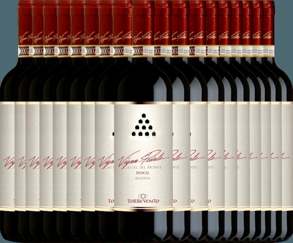 18er Vorteils-Weinpaket - Vigna Pedale Castel del Monte Riserva DOCG 2015 - Torrevento