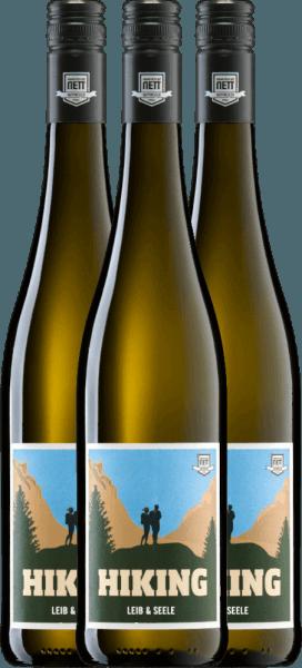 3er Vorteils-Weinpaket - Hiking Leib & Seele Cuvée feinherb 2020 - Bergdolt-Reif & Nett