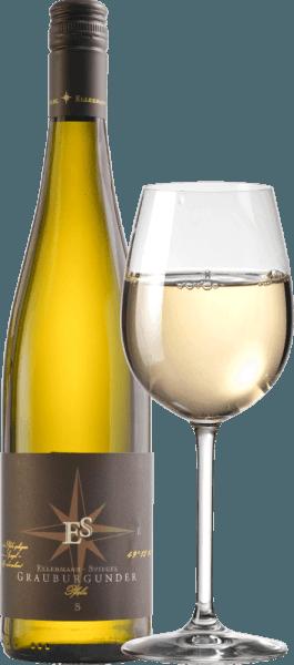 El Pinot Gris de Ellermann-Spiegel en el Palatinado encanta en la copa con un radiante color amarillo claro. La primera impresión en nariz es excepcionalmente afrutada. Se trata de una pera madura, un jugoso mirabelle, una exótica fruta de la pasión y otras frutas tropicales. Los aromas continúan con notas florales y herbáceas de un prado de verano. En el paladar, el vino de finca Palatinate Pinot Gris de Ellermann-Spiegel no es menos impresionante, jugoso y fresco. En el final, de nuevo mucha fruta, acompañada de una acidez fresca y vital y un fundido cuajado. Sorbo a sorbo puro placer. ¡Maravilloso! Vinificación del Ellermann-Spiegel Pinot Gris Frank Spiegel vinifica la mayor parte de su vino de finca Pinot Gris en tanques de acero inoxidable para resaltar el carácter afrutado de la variedad de uva. Además, un 10% se maduró en barricas de barrica para dar a este Pinot Gris un aroma especialmente aterciopelado y, además, especiado. Recomendación alimentaria y consejo de cata para el Pinot Gris de Frank Spiegel Disfrute de este maravilloso vino blanco del Palatinado mejor con marisco y pescado, con un Wiener Schnitzel, con chuletas de cerdo con salvia o simplemente solo en la terraza o el balcón.