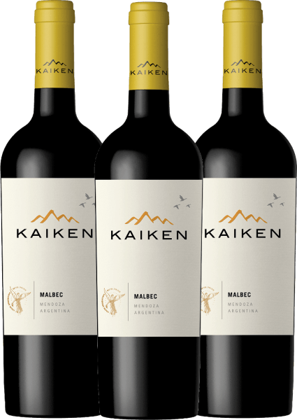 3er Vorteils-Weinpaket - Kaiken Malbec 2019 - Viña Kaiken