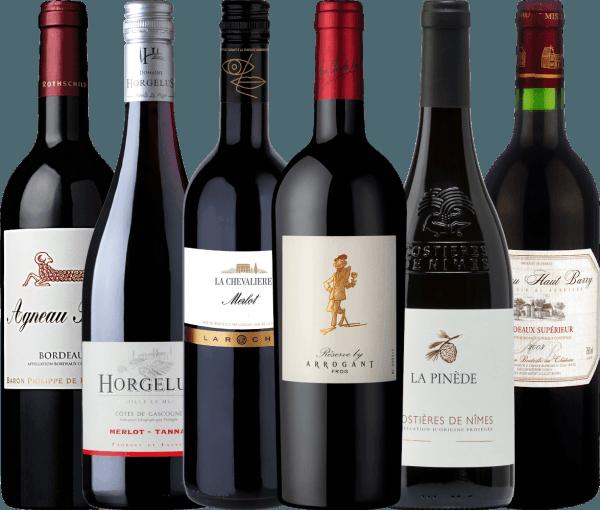 6er Kennenlernpaket - wundervolle Rotweine aus Frankreich