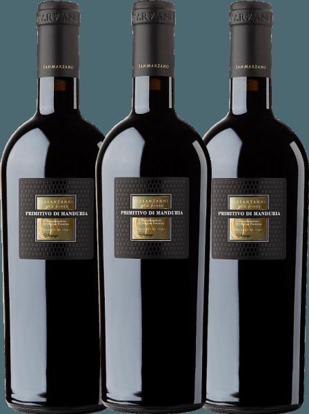 3er Vorteils-Weinpaket - Sessantanni Primitivo di Manduria DOC 2017 - Cantine San Marzano
